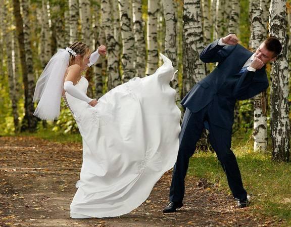 دعوای زن و شوهر: وقتی عروس رزمی کار باشد